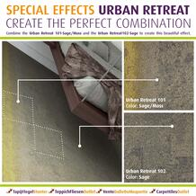 Combine the Urban Retreat  Sage/Moss    and the Urban Retreat  Sage  to create this beautiful effect.